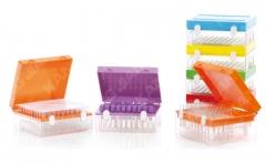 康健 标本封存冷藏盒 硅胶垫密封 φ13× 75mm 100孔 1个/盒